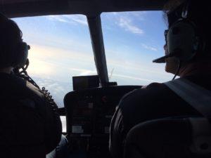 イタリアロケでヘリコプターでの空撮